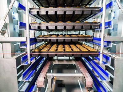 Sistema de refrigeración/congelación por pasos (en pisos o moldes/bandejas)