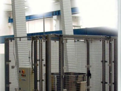 Elevador-volcador de dos columnas ER2